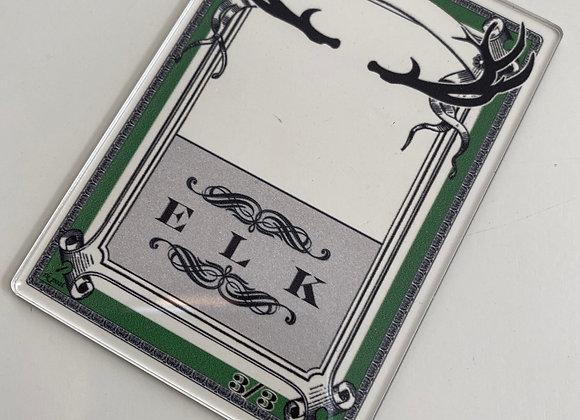 APCT023 Elk 2 Clear Acrylic Printed Token
