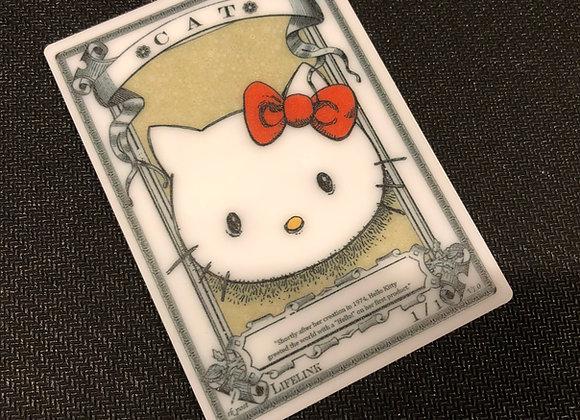 APT036 Cat 6 Acrylic Printed Token