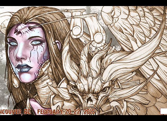 PLM107 Very Limited GP Vancouver 2015 Playmat