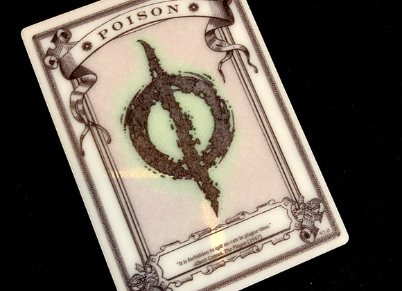 APT054 Poison Counter 2 Acrylic Printed Token