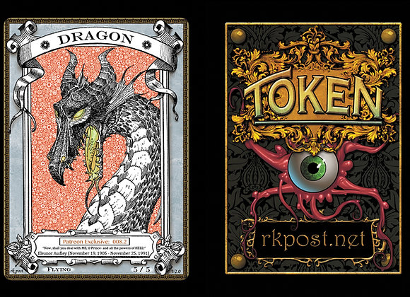 Patreon Release 8: Dragon 1  Silver Token