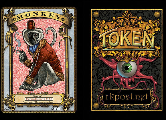 Patreon Release 14: Monkey 1 Gold Token
