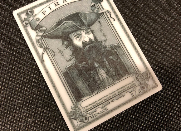 APT040 Pirate 1 Acrylic Printed Token