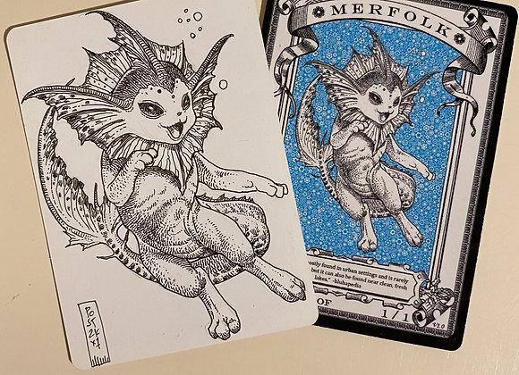 OTA038 Original Merfolk 3 Token Art