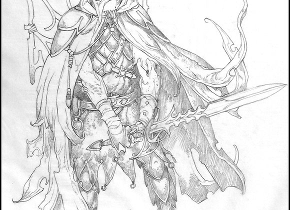 Medusa Male, Final Sketch
