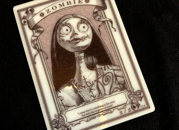 APT060 Zombie 17 Acrylic Printed Token