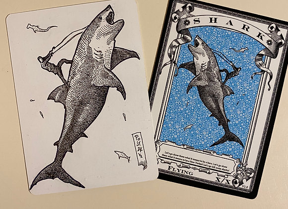OTA022 Original Shark 3 Token Art