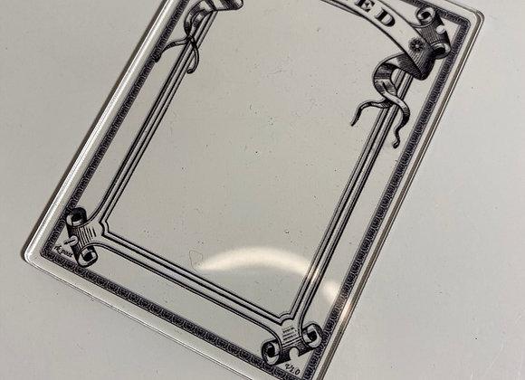 APCT015 Exiled 1 Clear Acrylic Printed Token