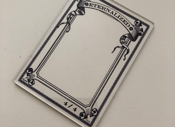 APCT001 Eternalized 1 Clear Acrylic Printed Token