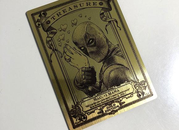 MTG011 Treasure 6 Gold Metallex Token