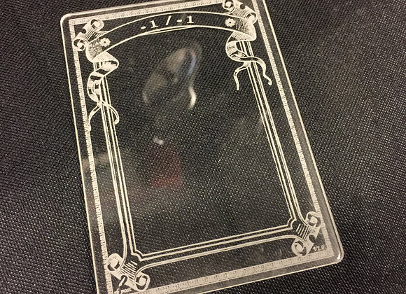 AET012 -1/-1 Counter 1 Acrylic Etched Token