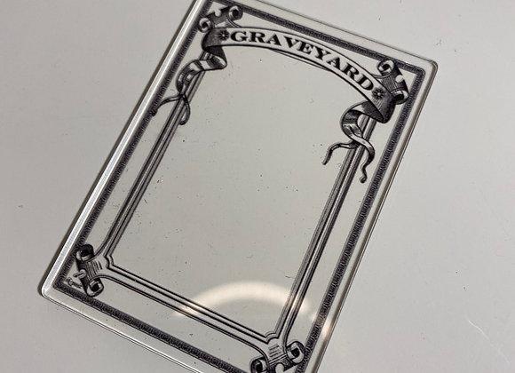 APCT016 Graveyard 1 Clear Acrylic Printed Token