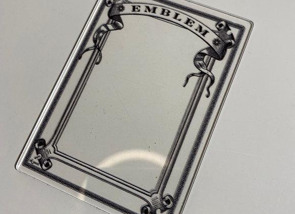 APCT018 Emblem 1 Clear Acrylic Printed Token