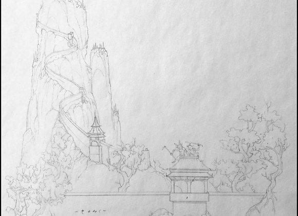 L5R Clan War Crab Novel Backdrop Pencil
