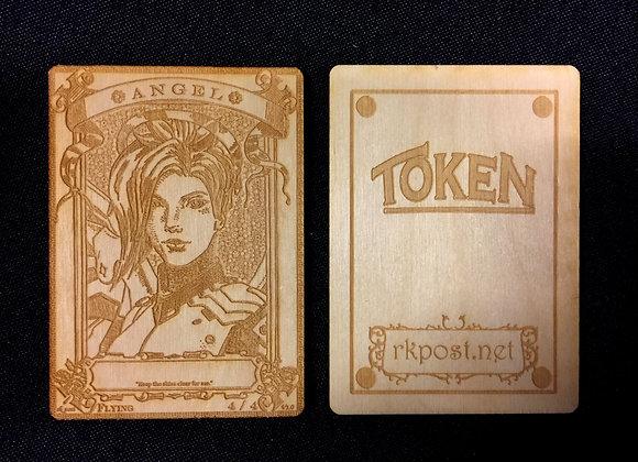 WT016 Angel 19 Wood Token