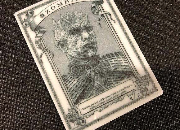 APT034 Zombie 15 Acrylic Printed Token