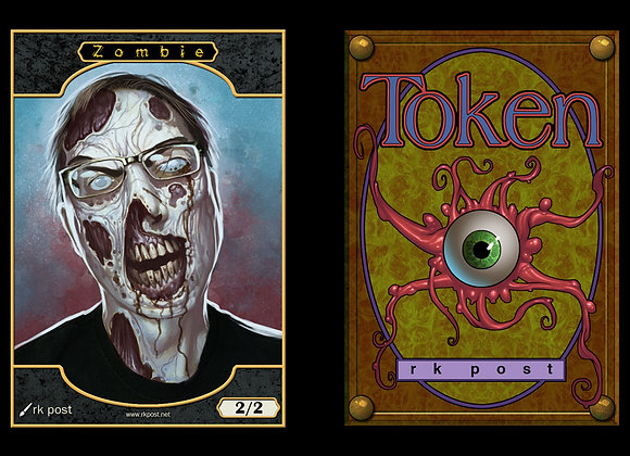 "T101 Full Color Angry ""Me"" Zombie 1 Token"