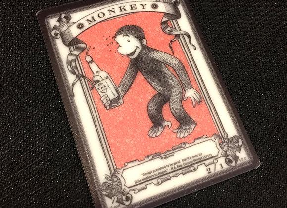 APT023 Monkey 1 Acrylic Printed Token