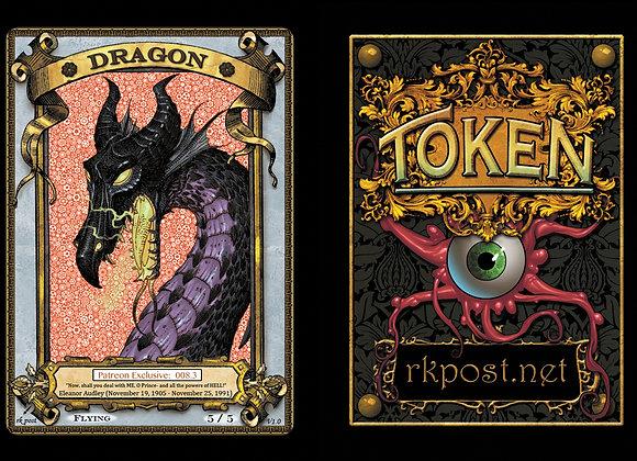 Patreon Release 8: Dragon 1 Gold Token