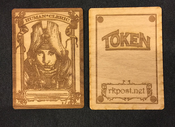 WT053 Human Cleric 3 Wood Token