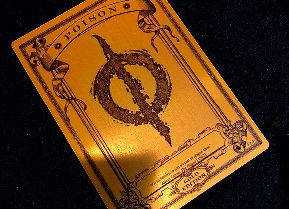 MTG005 Poison Counter 2 Gold Metallex Token