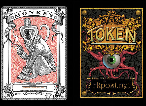 Patreon Release 14: Monkey 1 Bronze Token