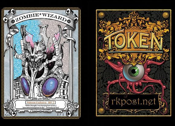 Patreon Release 1: Zombie Wizard 1 Silver Token