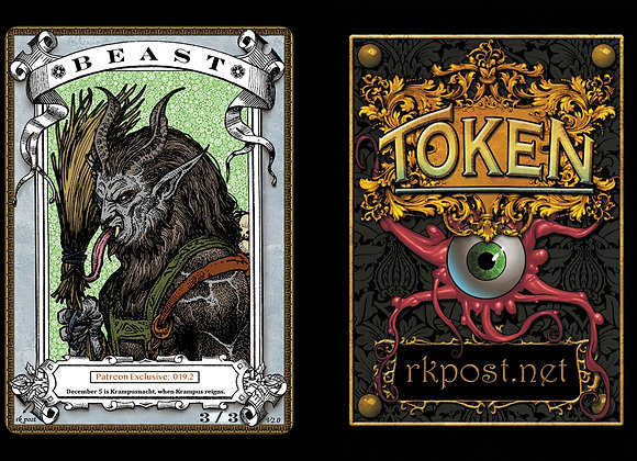 Patreon Release 19: Beast 1 Silver Token