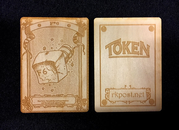 WT002 F-6 1 Wood Token
