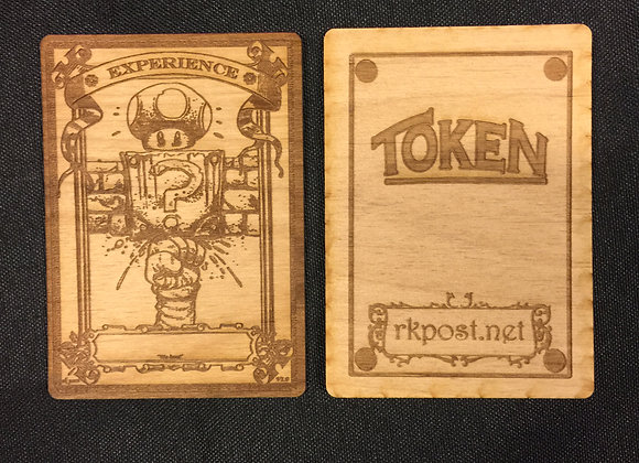 WT052 Experience Counter 1 Wood Token