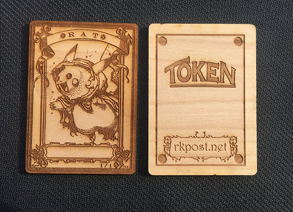 WT044 Rat 2 Wood Token