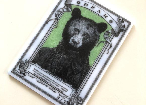 APT086 Bear 3 Acrylic Printed Token