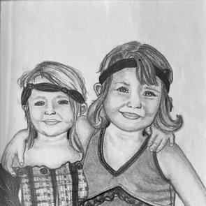 """""""Sisters all dressed up"""" 