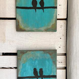 """""""Two Little Birdies... Twice""""   Georgie H.   $80"""