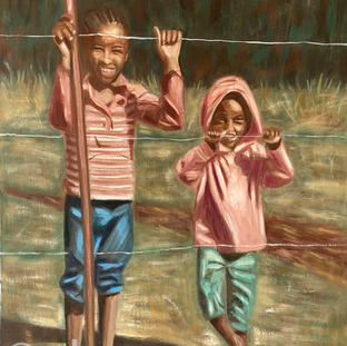 """""""Happiness at the Fence"""" 