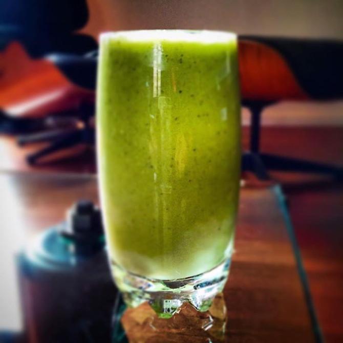 Smoothie vert pour la santé