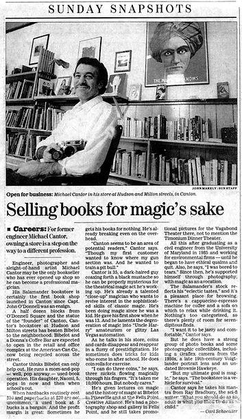 Salamander Books Baltimore Sun