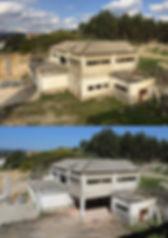 Demolição de modificações ao edifício original. Antes e depois, Fevereiro de 2018. © Nuno Rocha, Arquivo EICEL1920.