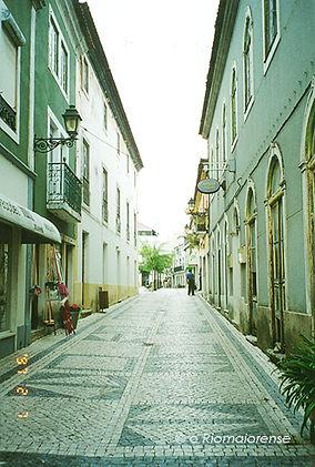 Rua Serpa Pinto, Anos 90. © Nuno Rocha, 1997. Arquivo O Riomaiorense.