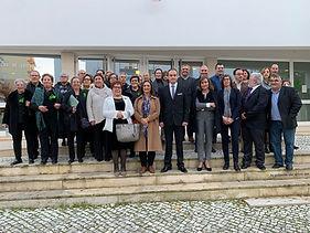 Assinatura do protocolo de criação do Clube UNESCO para o Património Cultural, em Rio Maior. Fotografia de Grupo. Rio Maior, 23 de Novembro de 2019. © Arquivo EICEL1920.