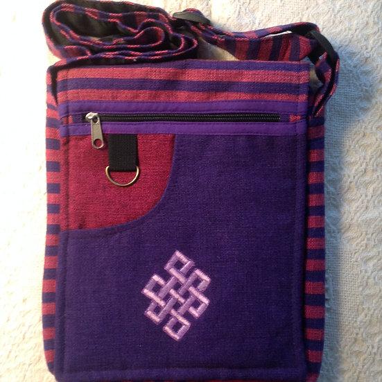 Lg. Purple Endless Knot Shoulder Bag