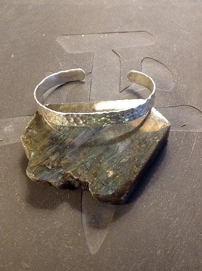 Sterling Silver (.925) Hammered Cuff Bracelet