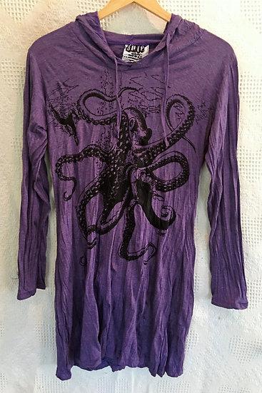 Purple, Octopus Hoodie Dress