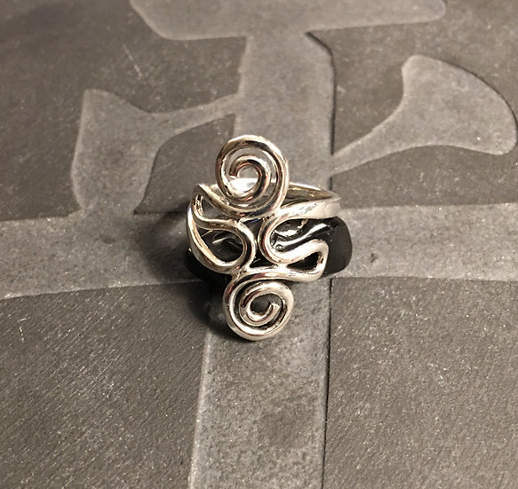 Sterling Silver (.925) Double Spiral Ring