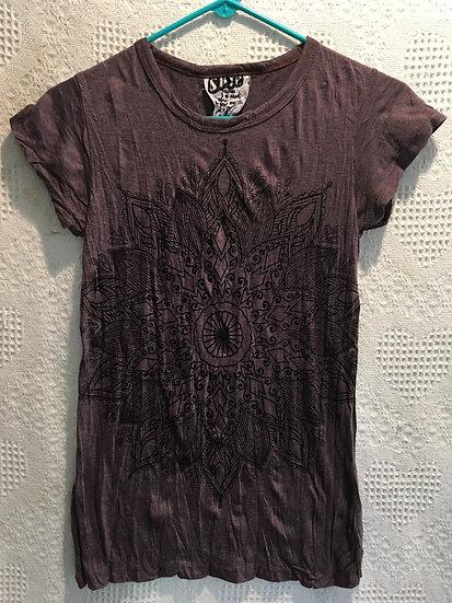 Brown Lotus Mandala T-Shirt