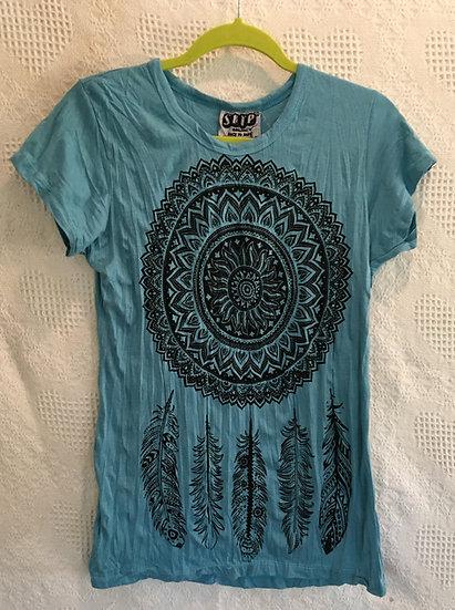 Medium Blue Dream-Catcher T-Shirt