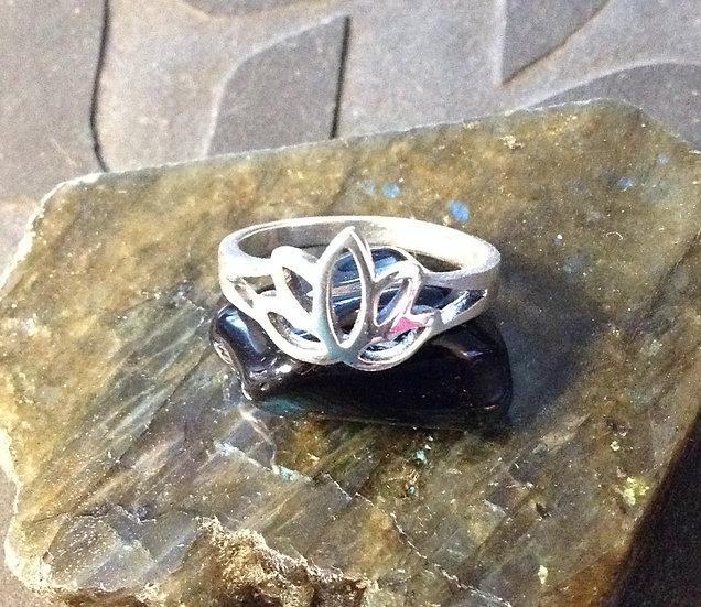 Sterling Silver (.925) Lotus Ring