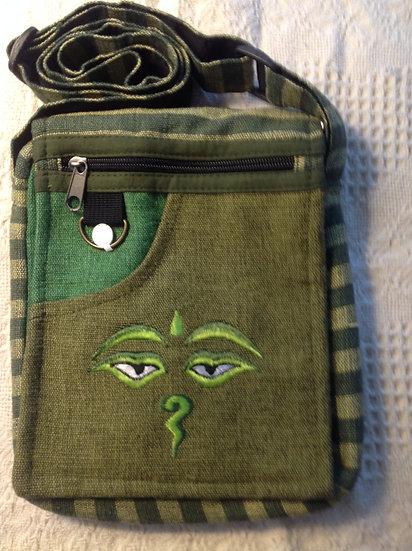 Green Buddha Eyes Shoulder Bag