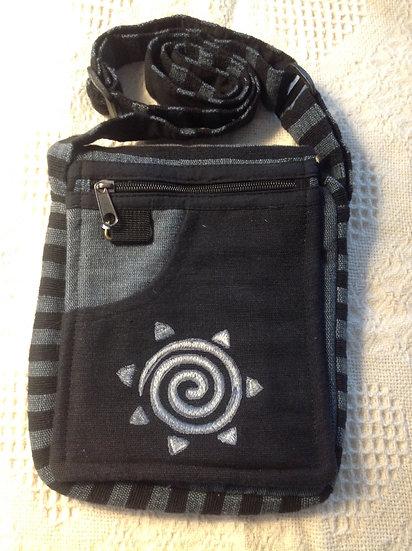 Black Spiral Shoulder Bag