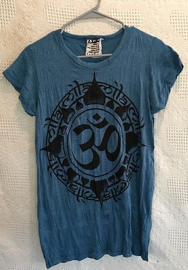 Blue, OM in Lotus Blossom T-Shirt